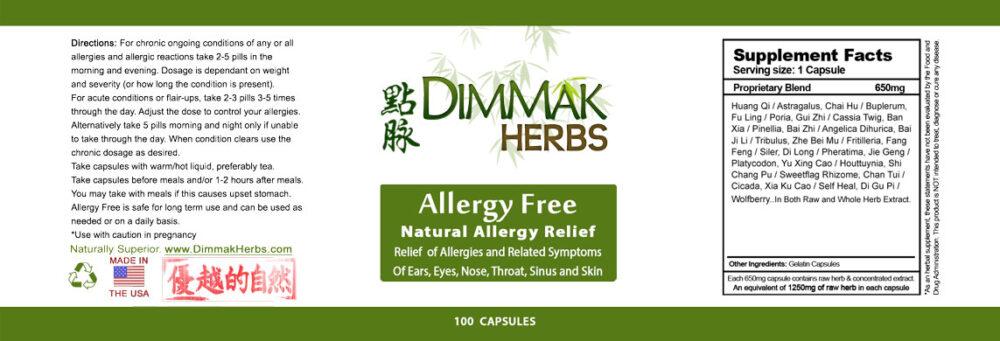 allergy-free-pills-label